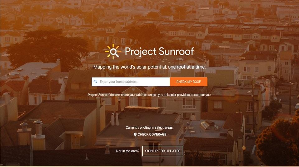 Proyecto Sunroof de Google